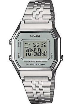 Японские наручные  женские часы Casio LA680WEA-7E. Коллекция Illuminator