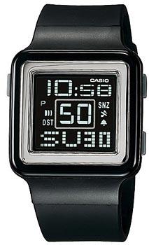 Японские наручные  женские часы Casio LDF-20-1A. Коллекция Digital