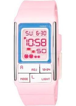 Японские наручные  женские часы Casio LDF-51-4A. Коллекция Digital