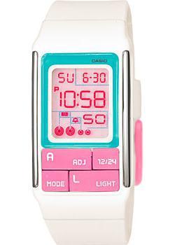 Японские наручные  женские часы Casio LDF-51-7C. Коллекция Digital
