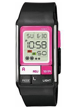 Японские наручные  женские часы Casio LDF-52-1A. Коллекция Digital