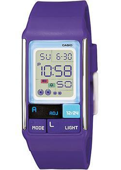 Японские наручные  женские часы Casio LDF-52-6A. Коллекция Digital