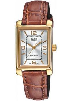 Японские наручные  женские часы Casio LTP-1234PGL-7A. Коллекция Analog