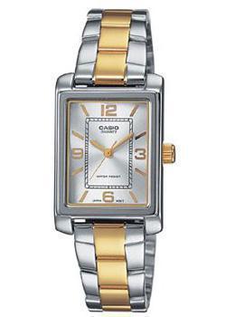 Японские наручные  женские часы Casio LTP-1234PSG-7A. Коллекция Analog