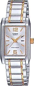 Японские наручные  женские часы Casio LTP-1235SG-7A. Коллекция Analog