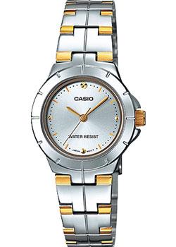 Японские наручные  женские часы Casio LTP-1242SG-7C. Коллекция Analog