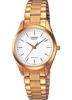 Японские наручные  женские часы Casio LTP-1274G-7A. Коллекция Analog