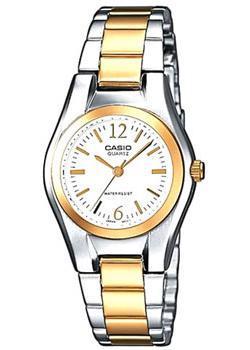 Японские наручные женские часы Casio LTP-1280PSG-7A. Коллекция Analog фото