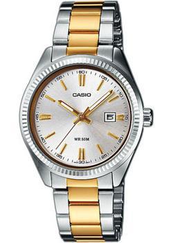 Японские наручные  женские часы Casio LTP-1302PSG-7A. Коллекция Analog