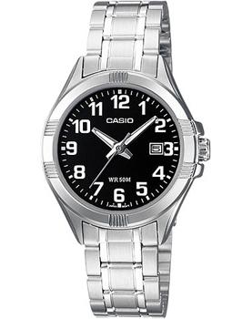 Японские наручные  женские часы Casio LTP-1308D-1B. Коллекция Analog