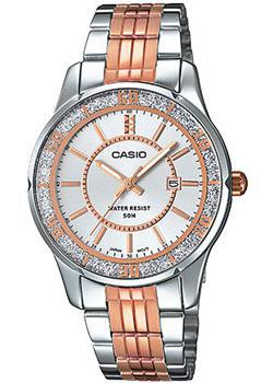 Японские наручные  женские часы Casio LTP-1358RG-7A. Коллекция Analog