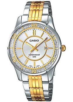 Японские наручные  женские часы Casio LTP-1358SG-7A. Коллекция Analog