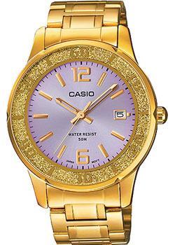 Японские наручные  женские часы Casio LTP-1359G-6A. Коллекция Analog