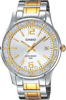 Японские наручные  женские часы Casio LTP-1359SG-7A. Коллекция Analog
