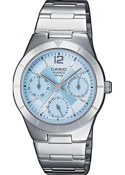 Японские наручные  женские часы Casio LTP-2069D-2A. Коллекция Analog