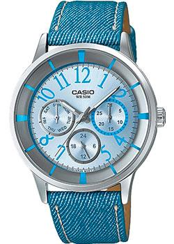 Японские наручные  женские часы Casio LTP-2084LB-2B. Коллекция Analog
