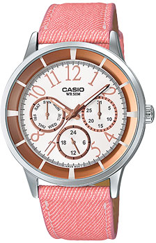 Японские наручные  женские часы Casio LTP-2084LB-7B. Коллекция Analog