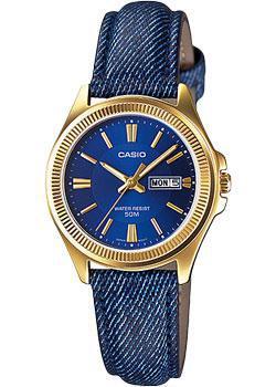 Японские наручные  женские часы Casio LTP-E111GBL-2A. Коллекция Analog