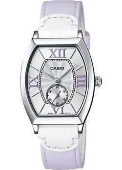 Японские наручные  женские часы Casio LTP-E114L-6A. Коллекция Analog