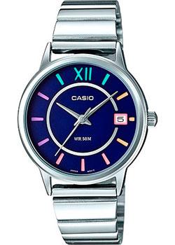 Японские наручные  женские часы Casio LTP-E134D-2B. Коллекция Analog