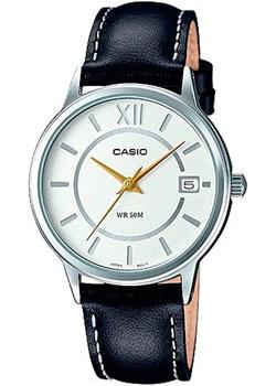 Японские наручные  женские часы Casio LTP-E134L-1B. Коллекция Analog