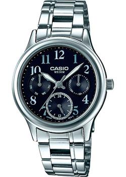 Японские наручные  женские часы Casio LTP-E306D-1B. Коллекция Analog