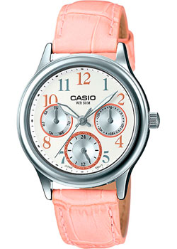 Японские наручные  женские часы Casio LTP-E306L-4B. Коллекция Analog