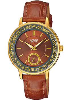 Японские наручные  женские часы Casio LTP-E408GL-5A. Коллекция Analog