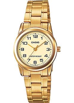 Японские наручные  женские часы Casio LTP-V001G-9B. Коллекция Analog