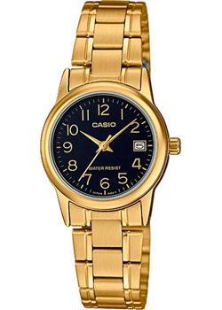 Японские наручные  женские часы Casio LTP-V002G-1B. Коллекция Analog