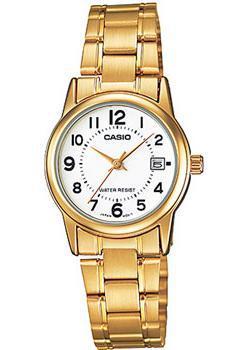Японские наручные  женские часы Casio LTP-V002G-7B. Коллекция Analog