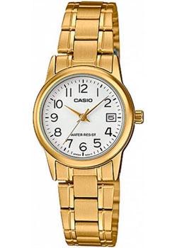 Японские наручные  женские часы Casio LTP-V002G-7B2. Коллекция Analog