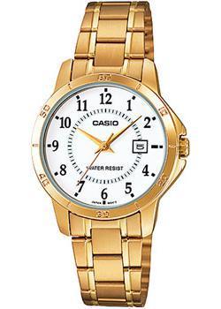Японские наручные  женские часы Casio LTP-V004G-7B. Коллекция Analog