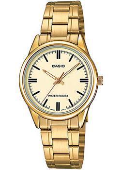 Японские наручные  женские часы Casio LTP-V005G-9A. Коллекция Analog