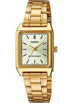 Японские наручные  женские часы Casio LTP-V007G-9E. Коллекция Analog