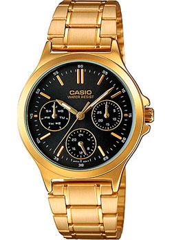 Японские наручные  женские часы Casio LTP-V300G-1A. Коллекция Analog