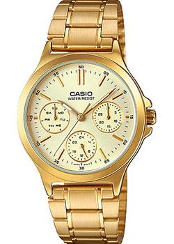 Японские наручные  женские часы Casio LTP-V300G-9A. Коллекция Analog