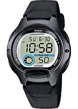 Японские наручные  женские часы Casio LW-200-1B. Коллекция Digital