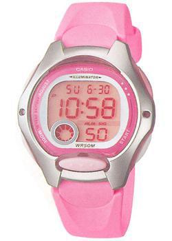 Японские наручные  женские часы Casio LW-200-4B. Коллекция Classic&digital timer