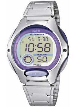 Японские наручные  женские часы Casio LW-200D-6A. Коллекция Digital