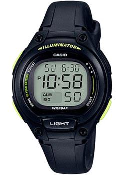 Японские наручные  женские часы Casio LW-203-1B. Коллекция Digital