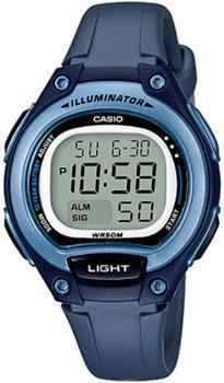Японские наручные  женские часы Casio LW-203-2A. Коллекция Digital
