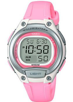 Японские наручные  женские часы Casio LW-203-4A. Коллекция Digital