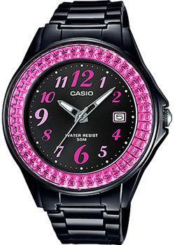 Японские наручные  женские часы Casio LX-500H-1B. Коллекция Analog