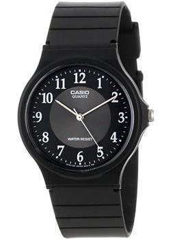 Японские наручные  мужские часы Casio MQ-24-1B3. Коллекция Analog