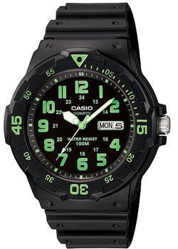 Японские наручные  мужские часы Casio MRW-200H-3B. Коллекция Diver Look