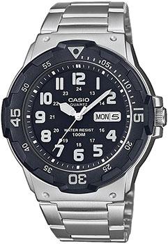 Японские наручные  мужские часы Casio MRW-200HD-1BVEF. Коллекция Analog