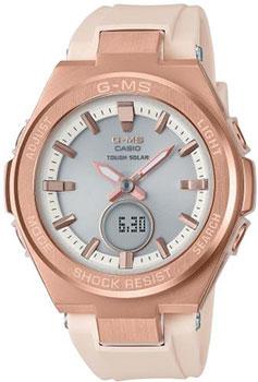 Японские наручные  женские часы Casio MSG-S200G-4AER. Коллекция Baby-G