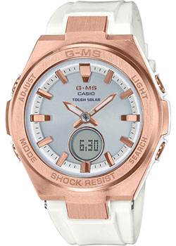 Японские наручные  женские часы Casio MSG-S200G-7AER. Коллекция Baby-G