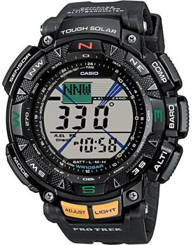 Японские наручные  мужские часы Casio PRG-240-1E. Коллекция Pro-Trek